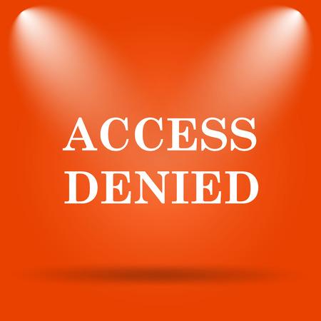 access denied icon: Access denied icon. Internet button on orange background. Stock Photo