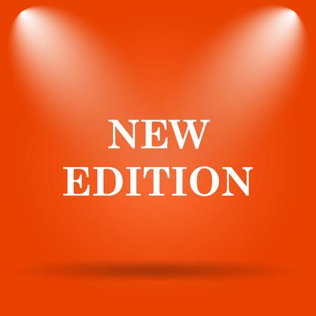 edition: New edition icon. Internet button on orange background. Stock Photo