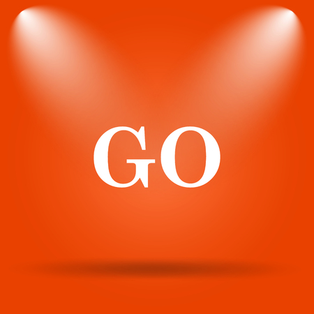 proceed: GO icon. Internet button on orange background.