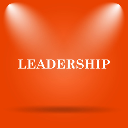 superintendence: Leadership icon. Internet button on orange background.