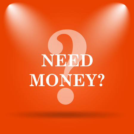 trading questions: Need money icon. Internet button on orange background.