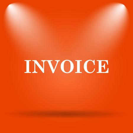 payable: Invoice icon. Internet button on orange background. Stock Photo