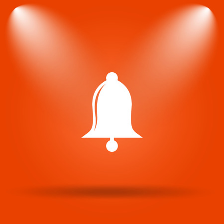 safe and sound: Bell icon. Internet button on orange background.