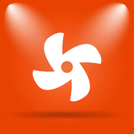 conditioned: Fan icon. Internet button on orange background.