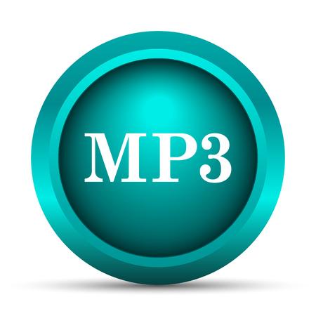 mp3: MP3 icon. Internet button on white background.