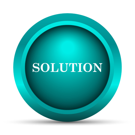 the solution: Solution icon. Internet button on white background.