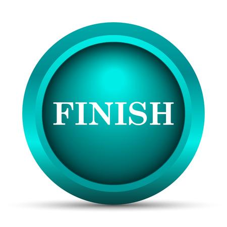 terminate: Finish icon. Internet button on white background.