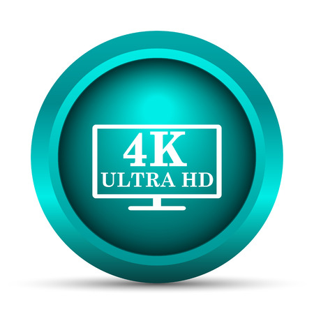 ultra: 4K ultra HD icon. Internet button on white background.
