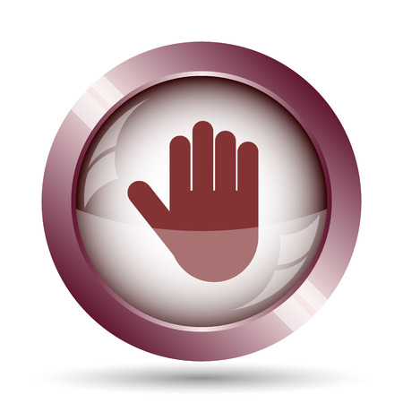 restrictive: Stop icon. Internet button on white background.