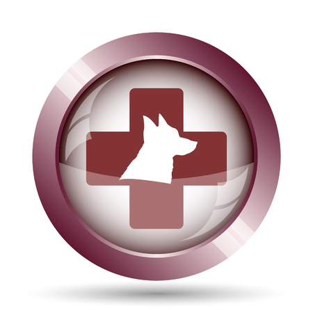 veterinary icon: Veterinary icon. Internet button on white background.