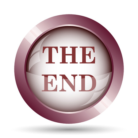 new direction: The End icon. Internet button on white background. Stock Photo