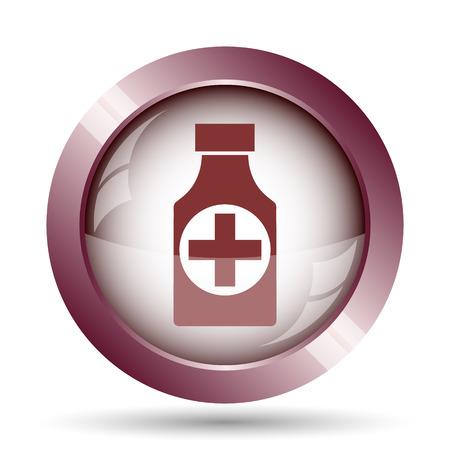 pills bottle: Pills bottle  icon. Internet button on white background. Stock Photo