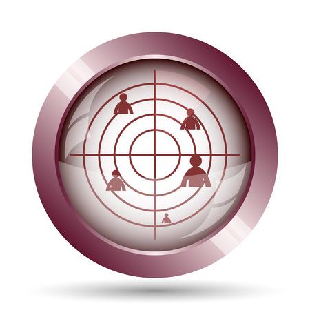 radar: Radar icon. Internet button on white background. Stock Photo