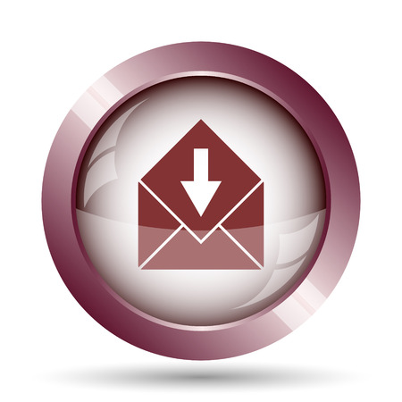net bar: Receive e-mail icon. Internet button on white background.