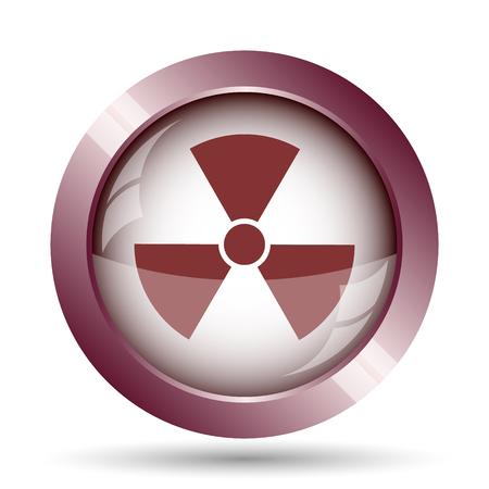 emanation: Radiation icon. Internet button on white background.