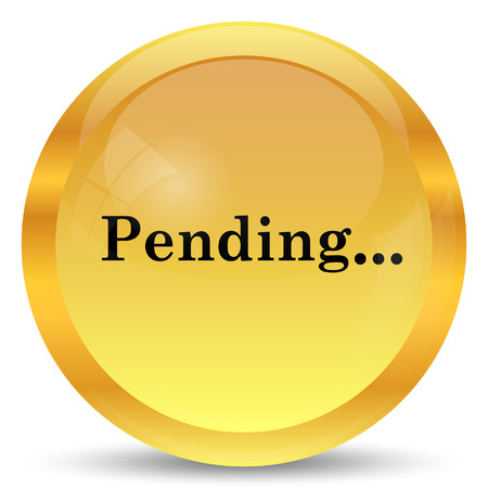pending: Pending icon. Internet button on white background.
