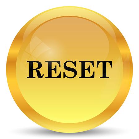 revamp: Reset icon. Internet button on white background.