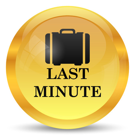 minute: Last minute icon. Internet button on white background.