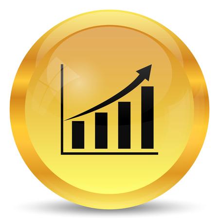 inventor: Chart icon. Internet button on white background.