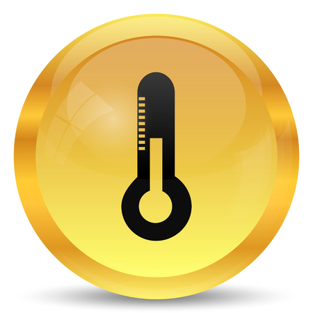 high scale: Thermometer icon. Internet button on white background.