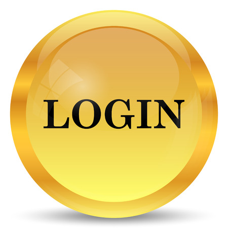 login: Login icon. Internet button on white background. Stock Photo