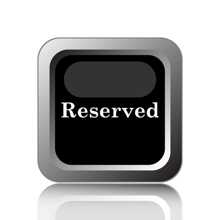 reserved: Reserved icon. Internet button on white background.