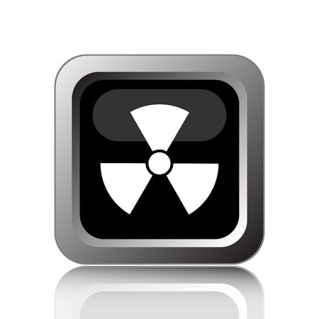 nuclear fusion: Radiation icon. Internet button on white background.