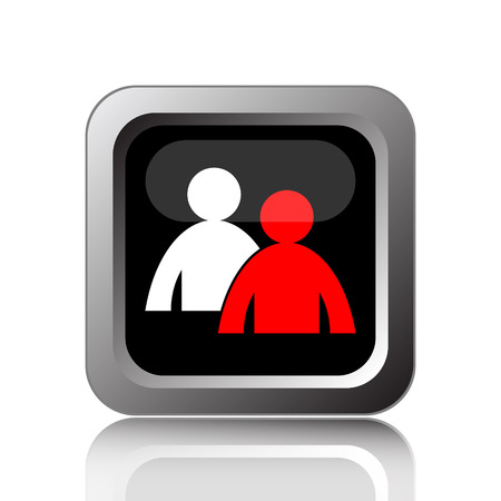 command button: Mentoring icon. Internet button on white background.