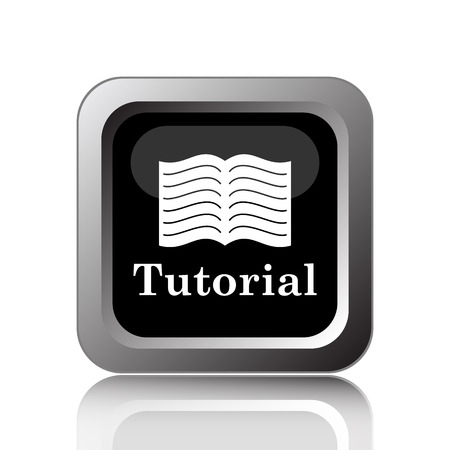 Tutorial icon. Internet button on white background.