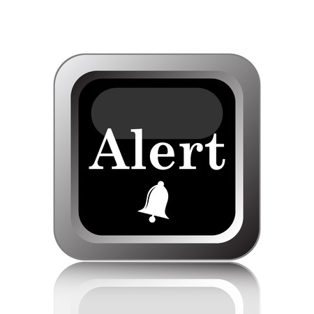 risky: Alert icon. Internet button on white background.