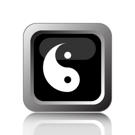 karma concept: Ying yang icon. Internet button on white background. Stock Photo