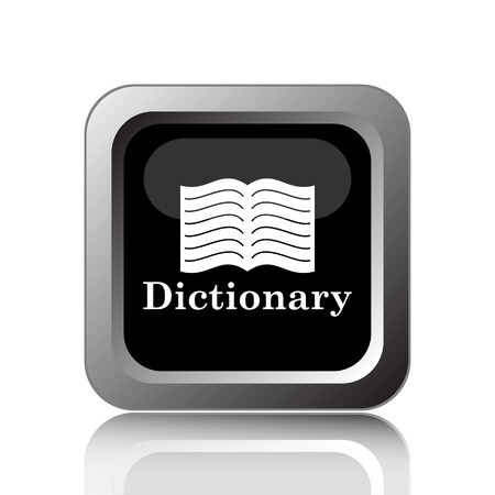 dictionary: Dictionary icon. Internet button on white background. Stock Photo