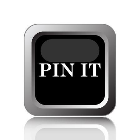 tacks: Pin it icon. Internet button on white background. Stock Photo