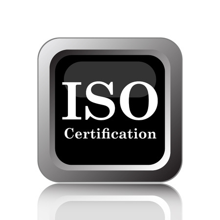 certification: ISO certification icon. Internet button on white background.