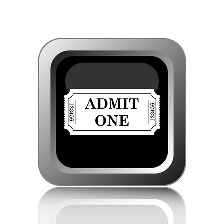 entry admission: Admin one ticket icon. Internet button on white background. Stock Photo