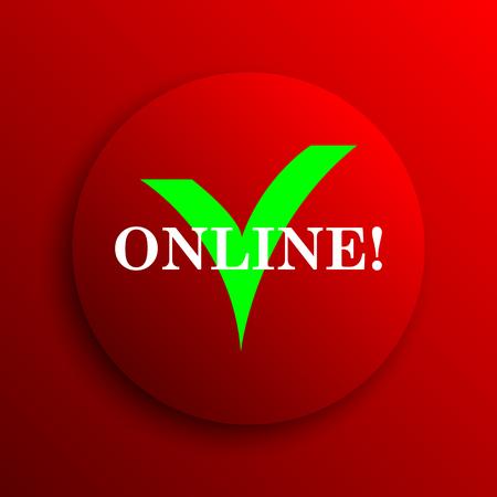 internet button: Online icon. Internet button on white background.