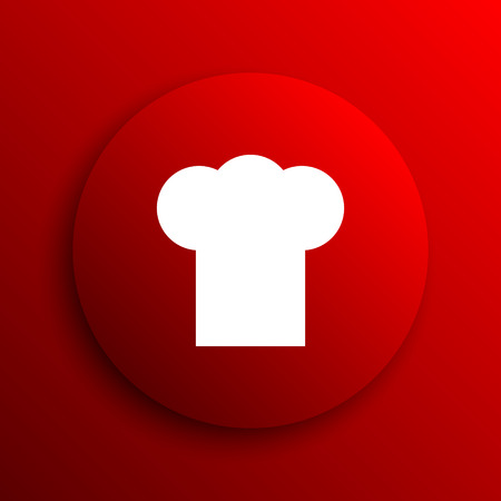 flavored: Chef icon. Internet button on white background.