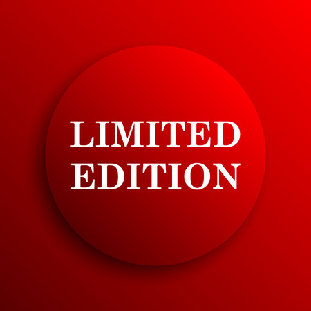 edition: Limited edition icon. Internet button on white background. Stock Photo
