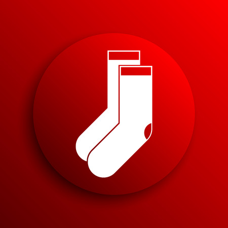 hosiery: Socks icon. Internet button on white background.