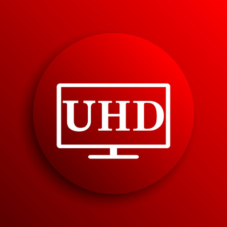 hd: Ultra HD icon. Internet button on white background.