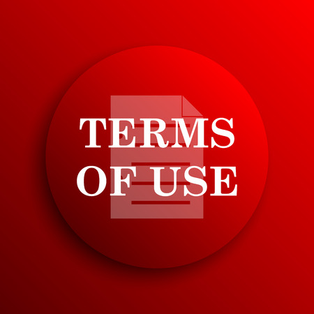 use regulation: Terms of use icon. Internet button on white background.