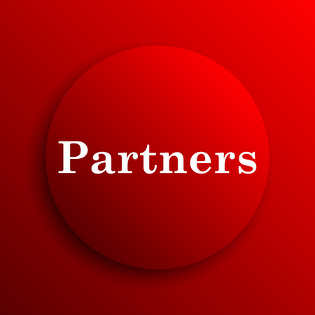 partners: Partners icon. Internet button on white background. Stock Photo