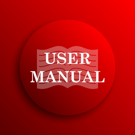 manual: User manual icon. Internet button on white background.