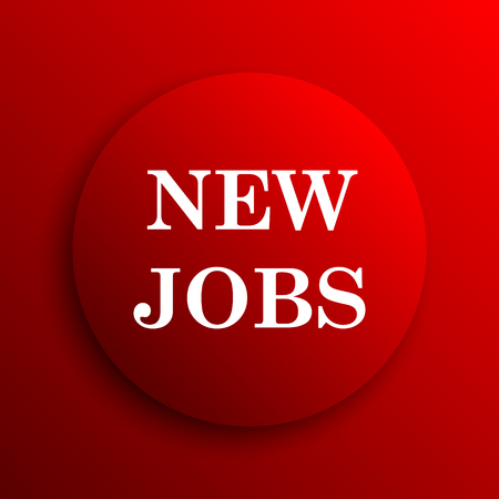 jobs: New jobs icon. Internet button on white background.