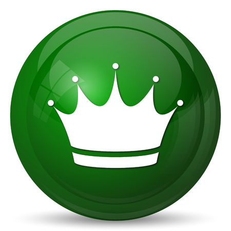 royal person: Crown icon. Internet button on white background.