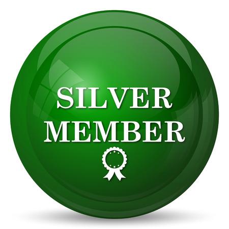 premium member: Silver member icon. Internet button on white background. Stock Photo