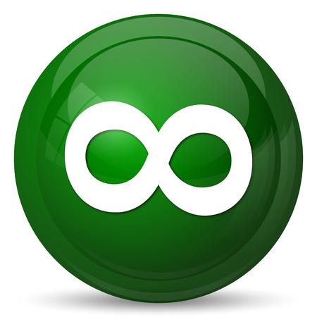 signo de infinito: Icono de signo infinito. Bot�n de internet sobre fondo blanco.