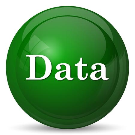 inform information: Data icon. Internet button on white background.