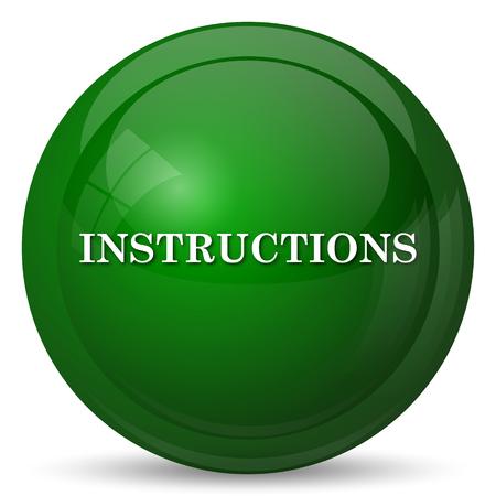 Istruzioni per l'icona. internet pulsante su sfondo bianco.