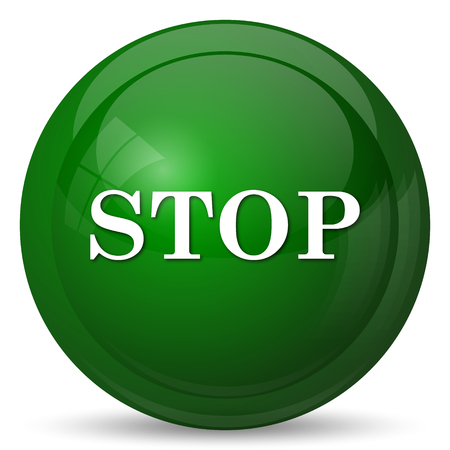 high end: Stop icon. Internet button on white background.